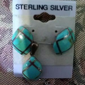 Women's earrings and pendant
